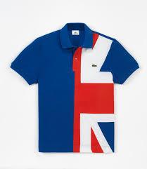 Great Britain Flag Lacoste Polo Flag Collection Da Man Magazine