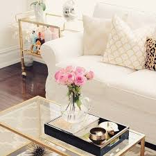 Glass And Gold Coffee Table Super Modern Coffee Table Decor Ideas