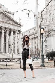 most complimented pants leather pants u0026 ruffle top wendy u0027s