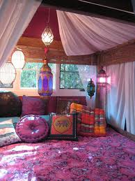 arabic decorations pink in arabian elegant interior style