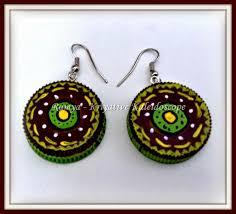 plastic bottle earrings kriya tive kaleidoscope recycled bottle cap earrings