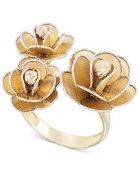 flower rings jewelry images Macy 39 s tri colour flower ring in 14k gold white gold rose gold tif