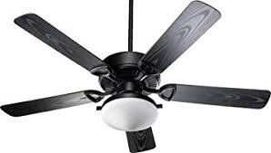 Black Outdoor Ceiling Fan With Light Quorum 1435255959 Estate Patio Matte Black 52 Outdoor Ceiling
