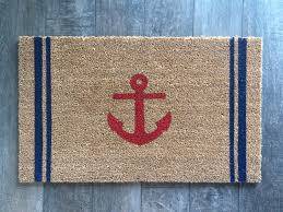 anchor w stripes welcome mat hand painted customizable