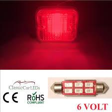 6 volt light bulb 6 volt 6v 42mm red festoon led tail light bulb 5630 6 smd classic