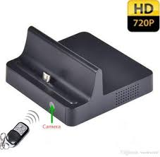 hd dock charger spy camera phone charging dock hidden spy