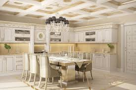 classic french kitchen design ceramic tile floor curved island