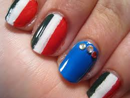 american flag and olympics sign nail art tutorial video