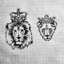 finger tattoo lioness something i sketched out for me my baby 3 apparently a lot of