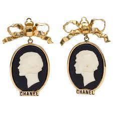 1970s earrings 1970s large chanel cameo earrings at 1stdibs