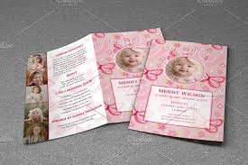 child funeral program template brochure templates on creative