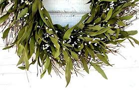 bay leaf wreath rustic twig wreath fall wreath bay leaf wreath country cottage