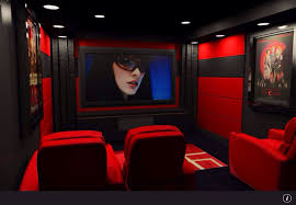 modern home theater with acoustic wall panel u0026 interior wallpaper