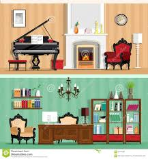 Interior Design Of Homes by Colorful Interior Of Home Office Stock Photo Image 44253666