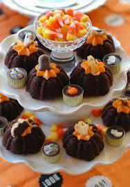 halloween table u0026 mini halloween cookies bunny cakes