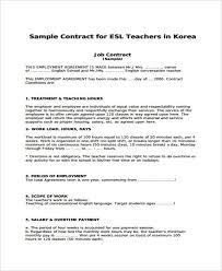 9 teacher contract templates free u0026 premium templates