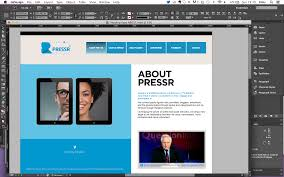 in design building a web page from an indesign file ding digital