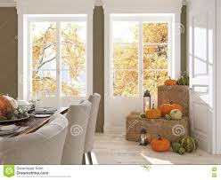 nordic kitchen in an apartment 3d rendering thanksgiving concept