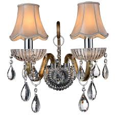 crystal sconces for bathroom light fabric shade crystal rustic wall sconces for bathroom