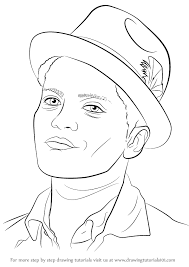 learn how to draw bruno mars singers step by step drawing