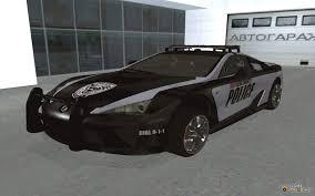 lexus lfa dashboard lfa police 2011 for gta san andreas