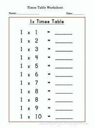 3times Table Worksheet On 3 Times Table Multiplication Table Sheets Free