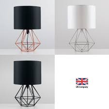 Copper Table Lamp Geometric Retro Style Wire Cage Table Lamps Bedside Lights