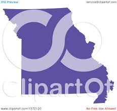 United States Map Missouri by Clipart Of A Purple Silhouetted Map Shape Of The State Of Missouri