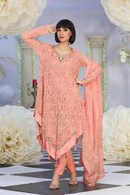 exclusive peach color latest design casual dress exclusive