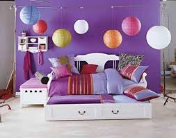Fun Bedroom Ideas by Round Hang Lamp Fun Bedroom Ideas For Girls With Purple Wall And