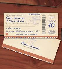 boarding pass wedding invitations design our day boarding pass wedding invitation design our day