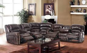 Leather Sectional With Chaise And Ottoman Comfortable Leather Sectional Sofa With Recliner And Chaise