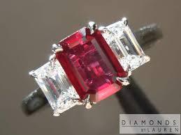 red emerald rings images 1 08ct emerald cut ruby ring r7931 diamonds by lauren ebay jpg