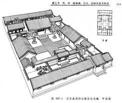 siheyuan floor plan house 3d model traditional chinese plans modern interior courtyard