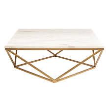 Cb2 Marble Coffee Table Coffee Table Rosalie Regency Gold Steel White Marble