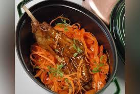 cuisiner epaule agneau epaule d agneau confite carotte safrané recette