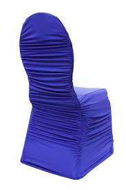 Ruched Chair Covers Ruched Fashion Spandex Banquet Chair Cover Royal Blue At Cv Linens