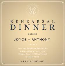 dinner invitation design custom rehearsal dinner invitations canva