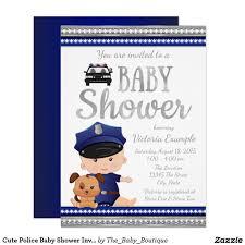 cute police baby shower invitation boy baby shower invites ideas