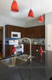 hanging lights for kitchen red kitchen light fixtures red pendant