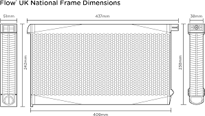 what are the dimensions of the flow frames flow hive flow