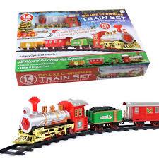 christmas express holiday festive train set toys track light