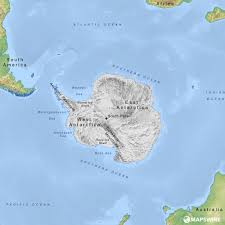 Physical Maps Physical Map Of Antarctica Antarctica Physical Map Physical