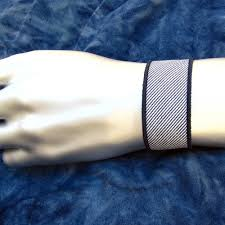 navy blue and white striped ribbon navy blue and white striped ribbon bracelet twilightsfancy on