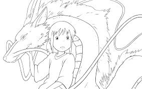 chihiro n haku outlines w bg by ilse4302 on deviantart
