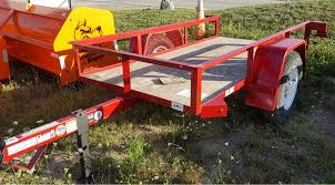 Utility Bed Trailer Mate 4 Ft X 8 Ft Angle Iron Utility Trailer W Tilt Bed