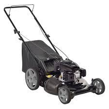 poulan 21 in walk behind manual push gas mower with kohler 675ohv