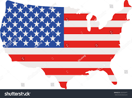 Untied States Of America Map by United States America Map Flag Stock Vector 520393471 Shutterstock