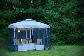 Decks With Attached Gazebos by 27 Gazebos With Screens For Bug Free Backyard Relaxation