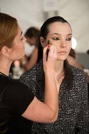 avon global celebrity makeup artist lauren andersen backse at the nicholas k spring 2016 runway show at new york fashion week